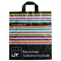 Einkaufstüte farbig bedruckbar aus Plastik