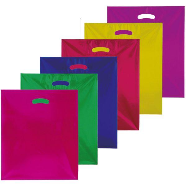 Plastiktueten Tragetaschen in verschieden Farben und Formaten