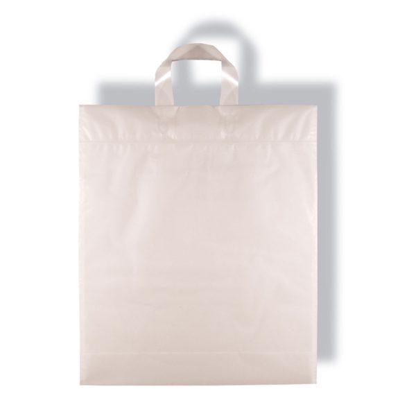 Plastiktragetasche gefrostet bzw. leicht transparent mit Schlaufe