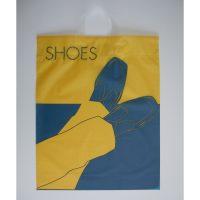 Schuhe Einkaufstüten blau-gelb Mann
