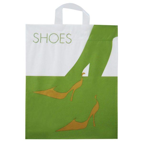 Plastiktragetasche mit Schlaufe und Motiv Schuhe