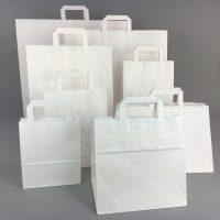 weisse Papiertragetaschen mit Henkel