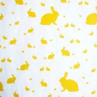 Gelbe Osterhasen Geschenkpapier