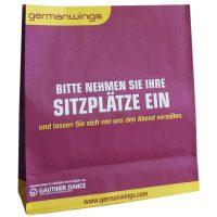 germanwings bedruckte Papiertragetaschen ohne Griff