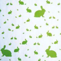 Grüne Osterhasen Geschenkpapier