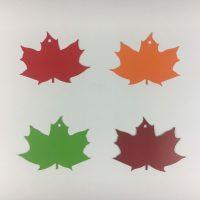 Herbstblatt Anstecker Hangtag