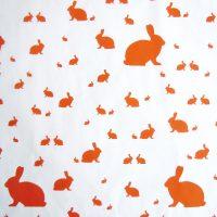 Orangenes Osterhasen Geschenkpapier