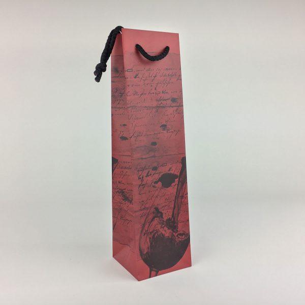 Flaschentragetasche mit Motiv und Textilkordel