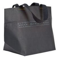 Shopper Papiertragetasche mit Textilschlaufe genäht und bedruckt