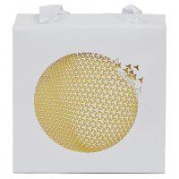 Weiße Tragetasche Geschenkverpackung Ornament in Gold